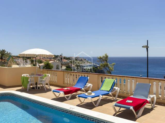 Amazing views of the Sea from this villa in Calan  Porter, Menorca