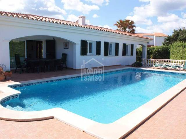 Pretty villa with private swimming pool and gardens in good location just a five minute walk from the beach at Arenal
