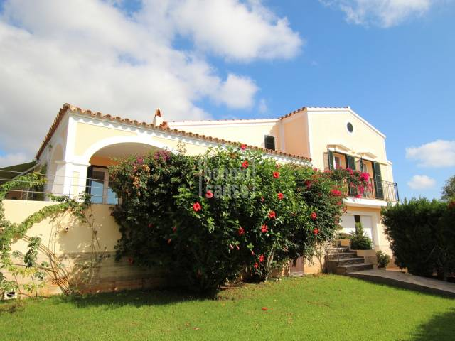 High spec villa situated on elevated plot in Punta Prima, Menorca