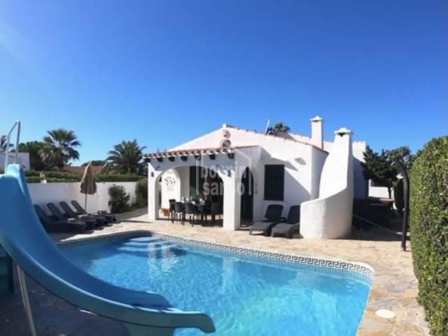 Bonito chalet con piscina en Cap d'Artrutx, Ciutadella, Menorca