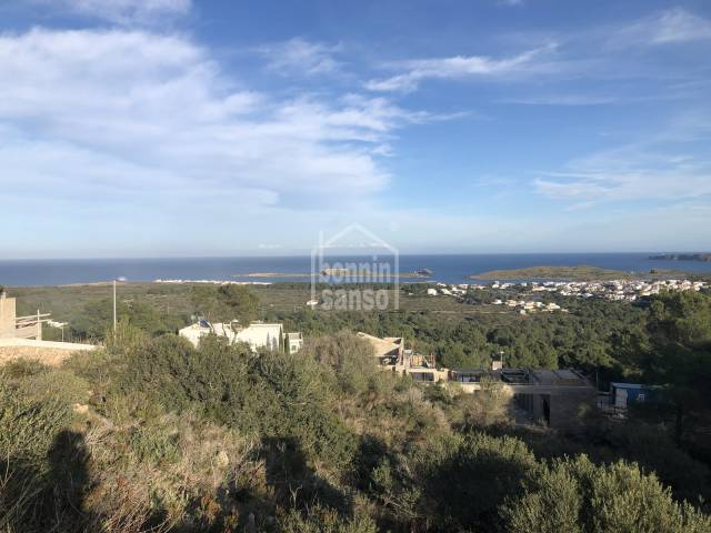 Building plot with sea views over the Port of Addaya, Na Macaret and Favaritx. Menorca