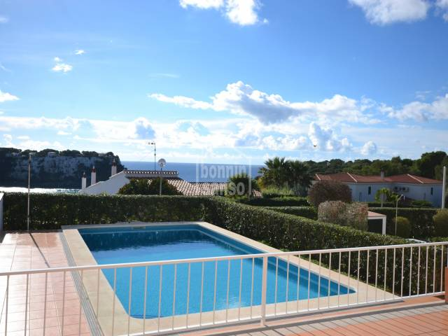 Modern villa with pool and beautiful sea views in Cala Galdana, Menorca