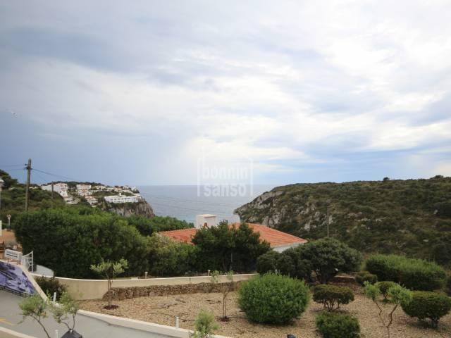 Super views from this Apartment with a Tourist License in Calan Porter, Menorca.