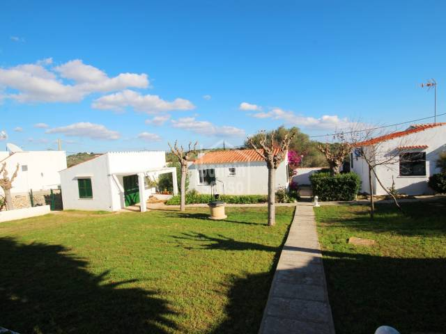 Semi detached, reformed  villa in a complex of  8 villas with swimming pool in Calan Porter, Menorca