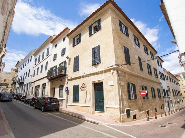 Second floor apartment, one of only six, in a house in the centre of Mahon, Menorca.