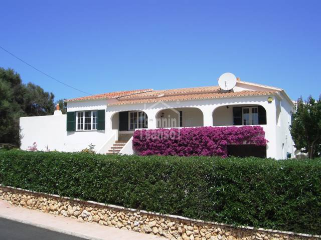 Comfortable family home in Binixica Menorca