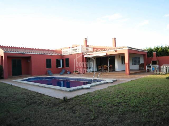 South facingvilla with swimming pool in Son Ganxo-Son Remei,MENORCA