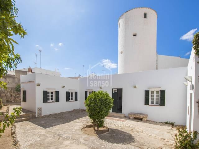 Ancient mill-house renewed in Ciutadella centre town, Menorca.