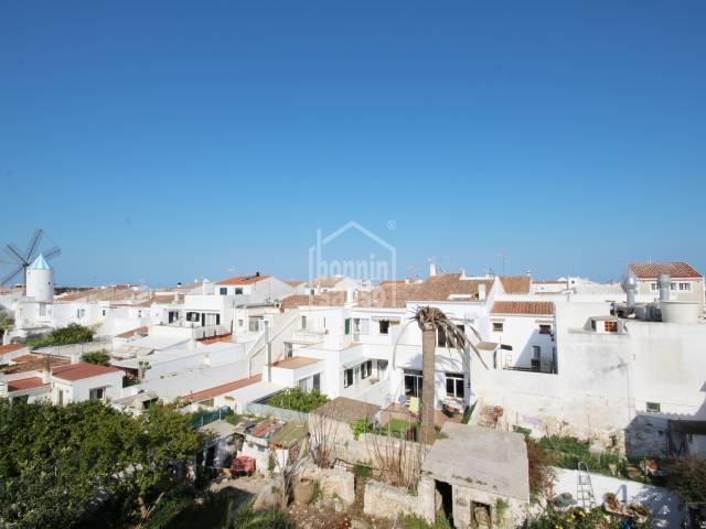 Large building with access from two streets in central area of Sant Lluis, Menorca