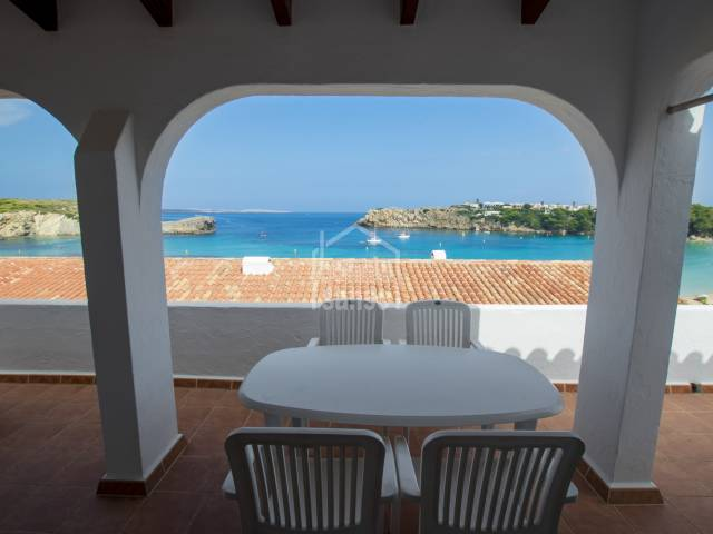 Wonderful sea views over Areanl beach, Menorca