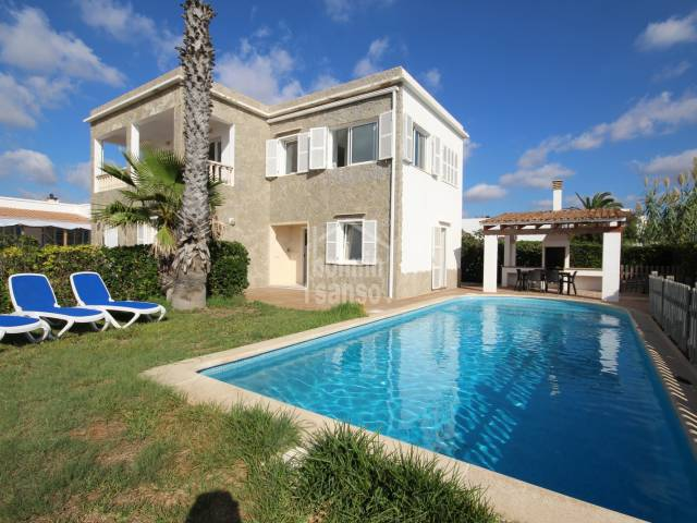 Attractive and spacious villa with sea views two steps from the beach of Cala Blanca, Ciutadella, Menorca