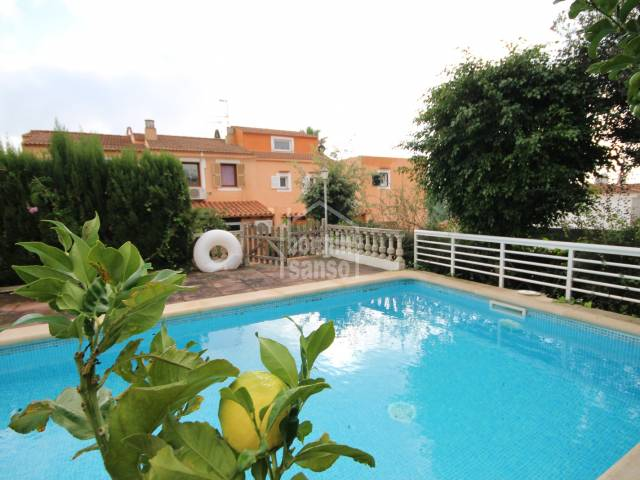 Swimming Pool, Garden - Spacious and well maintained townhouse with individual pool in Cala Galdana, Ciutadella, Menorca