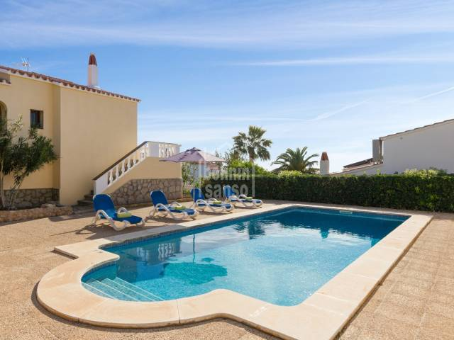 Complex of 4 terraced houses with communal pool and tourist licence, Son Bou, Menorca.