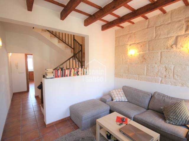 living room - Restored house in the old town of Ciutadella, Menorca