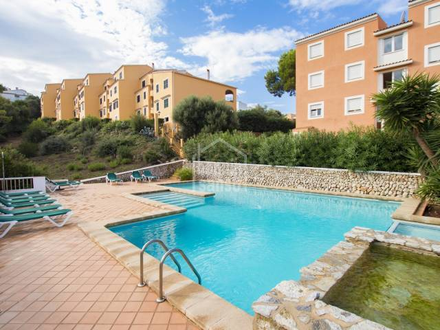 South facing ground floor apartment with private garden and distant sea views. Son Bou, Torresoli Nou, Menorca