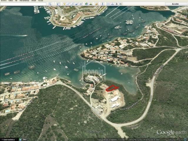 Parcela en primera linea en San Antonio. Puerto de Mahon. Menorca