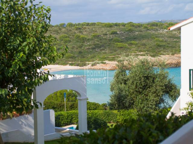 Beautiful duplex apartment with view on the beach of Son Parc, Menorca