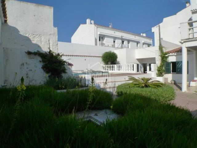 Large House with Pool in the centre of Es Castell, Menorca.