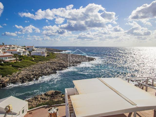 Excellent sea views from this apartment in Cala Torret,  Menorca