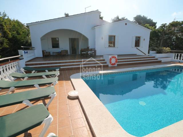 Villa in Son Parc with garden and pool
