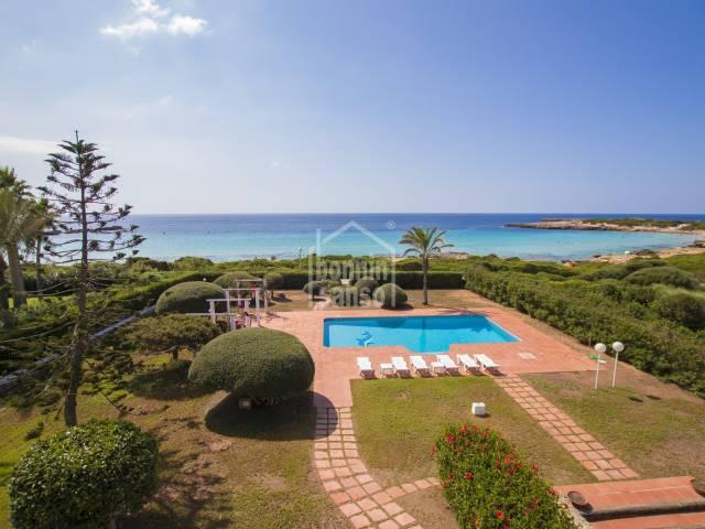 Front line luxury villa in Son Xoriguer, Menorca