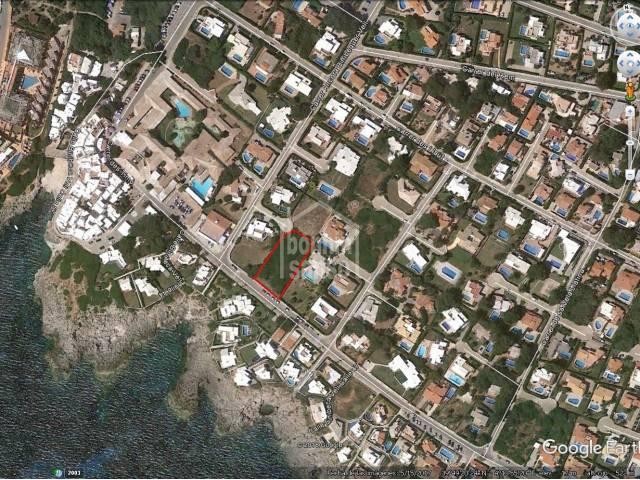 2 building plots in Binibeca with sea views.
