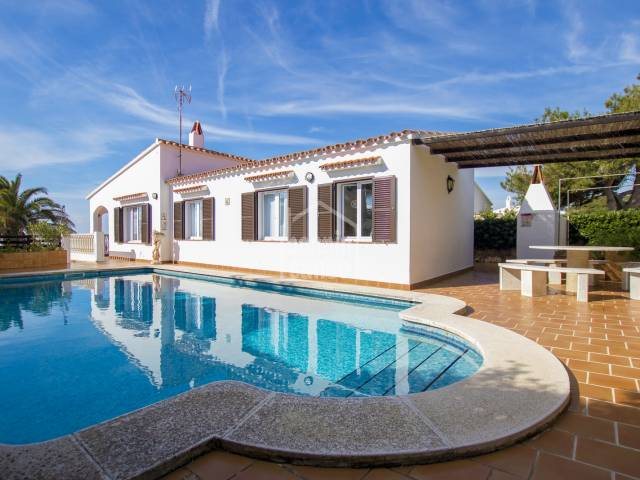 Lovely villa with views over the sea in Binibeca vell, Menorca