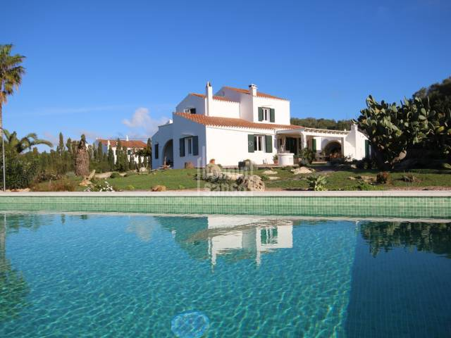 South facing Farmhouse close to Alayor with wonderful country views in Menorca.