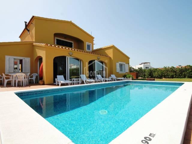 Modern versatile villa close to the beach of Arenal in the area of Punta Grossa, Menorca