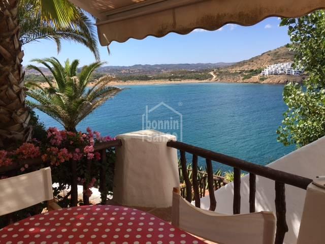 Erste Reihe direkt am Meer von Fornells,Menorca.