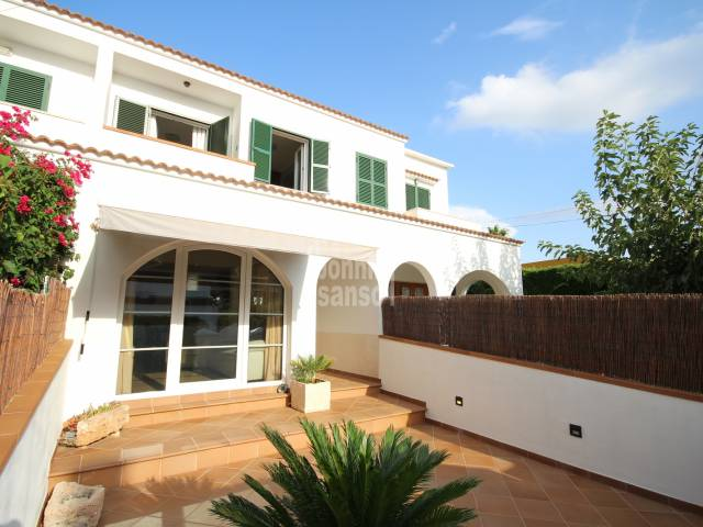 Front, Patio, Terrace - Charming villa with garage in Son Oleo, Ciutadella, Menorca