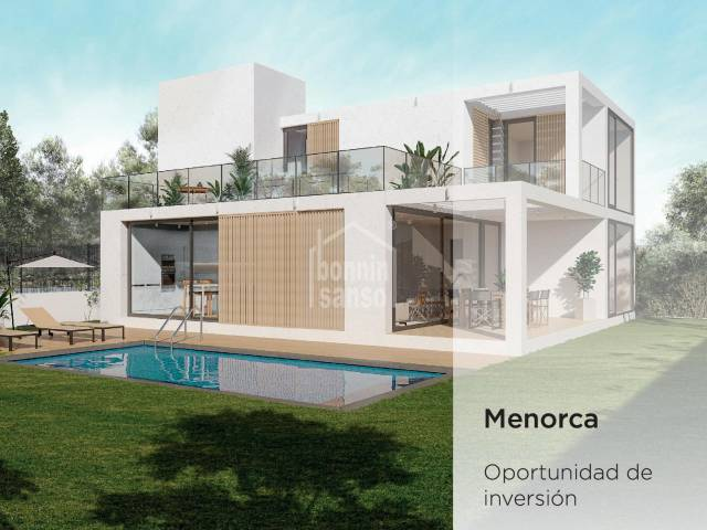 INVESTMENT OPORTUNITY: Building plot with draft project for six villas in Son Carrió, Ciutadella, Menorca