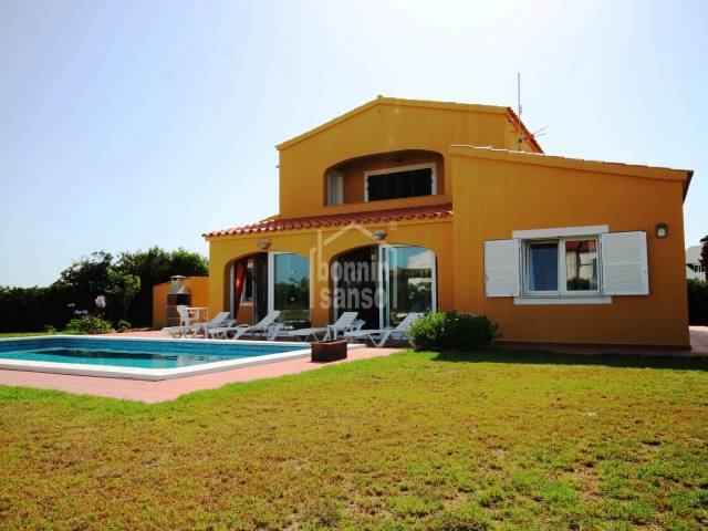 Modern versatile villa close to the beach of Arenal in the area of Punta Grossa, Menorca