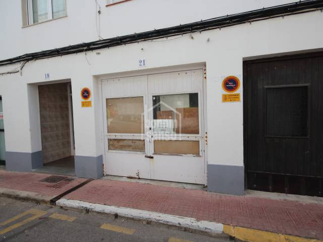Large garage in Es Castell, Menorca