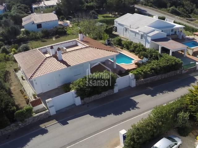 Villa (bungalow style) in Binidali. Menorca