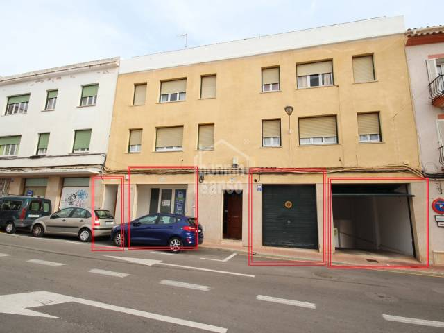 Business opportunity.  Large premises and garages in the centre of Mahon, Menorca.
