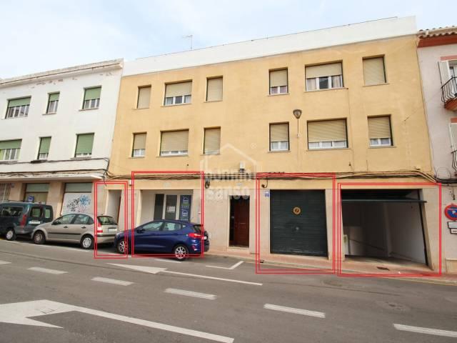 Oportunidad de negocio. Gran local y garajes en zona centro de Mahón, Menorca