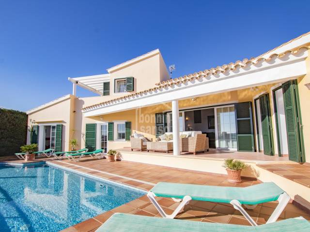 Modern villa with views on the Port of Mahon, Cala Llonga, Menorca.