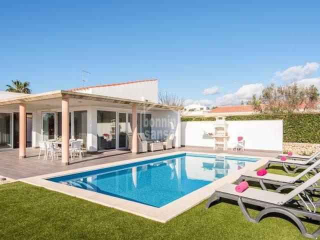 Modern villa with swimming pool in Binidali. Menorca