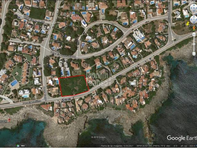 Magnificent opportunity: two plots to build 3 villas in Cap d'Artrutx, Ciutadella, Menorca