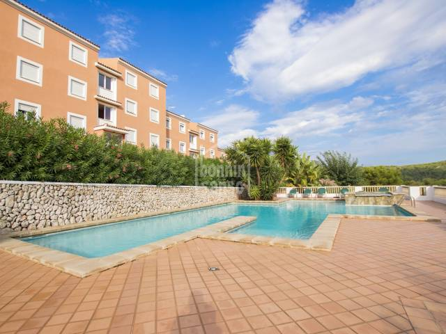 Panoramic views from this ground floor Apartment, Menorca