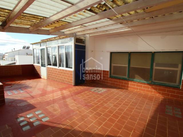 Flat on first floor located in the high street of Sant Lluis, Menorca