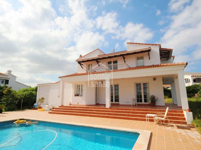 Lovely villa with swimming pool in S'algar, south coast Menorca