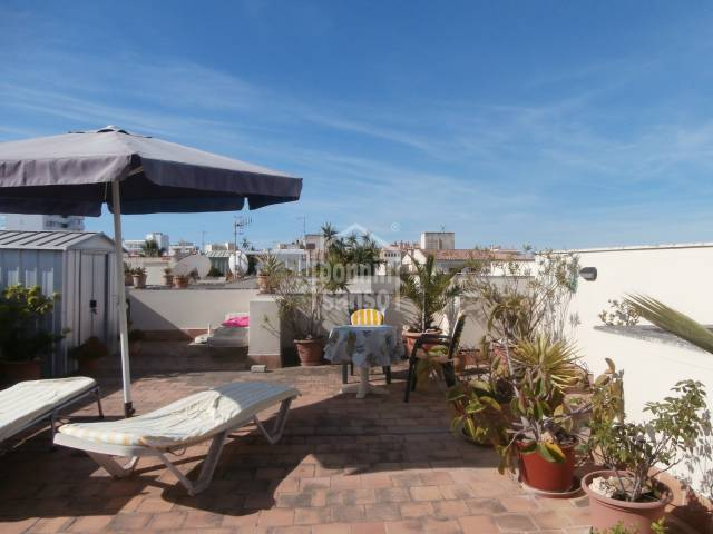 Penthouse flat approx. 74m² with 2 terraces of approx. 81m²