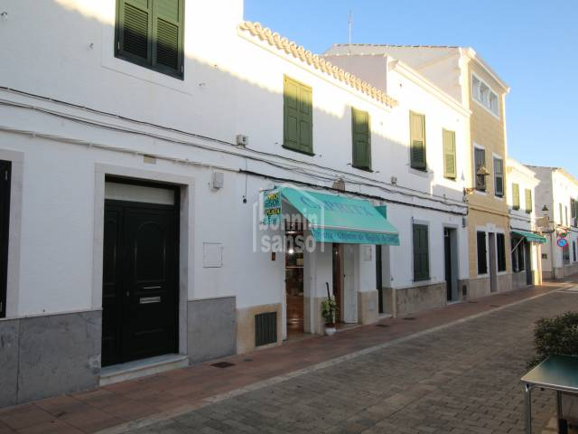 Shop located in the high street of Sant Lluis, Menorca