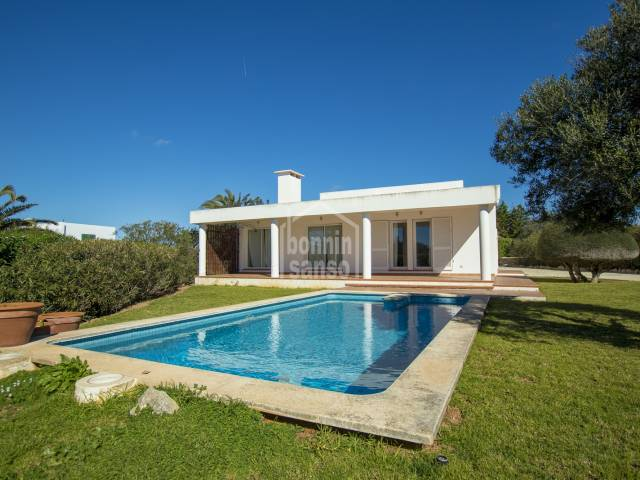 Private and south facing villa in Binisafua Rotters. Menorca