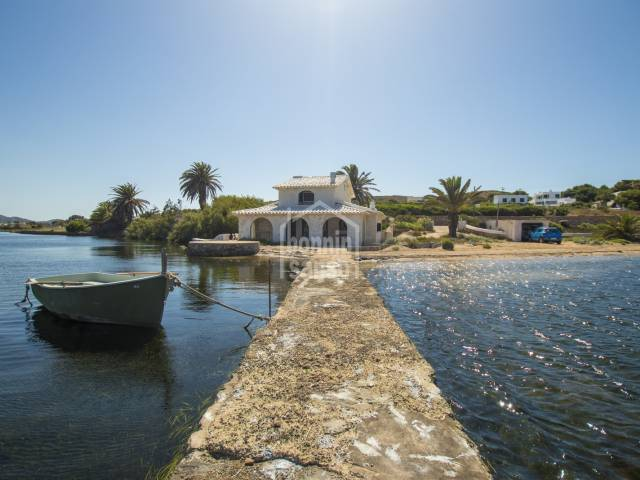 Unique location Fornells water front Menorca