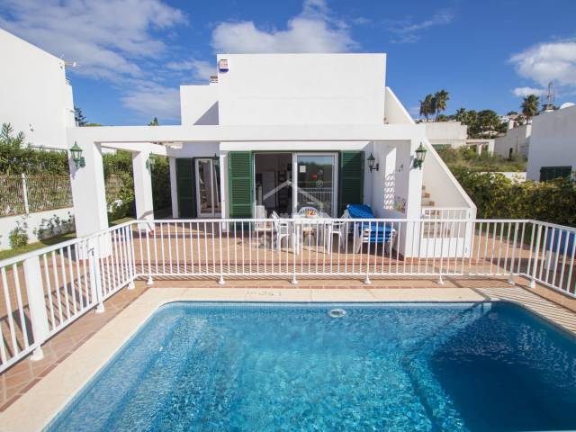 Modern villa with tourist license near the charming beach of Son Bou, Menorca