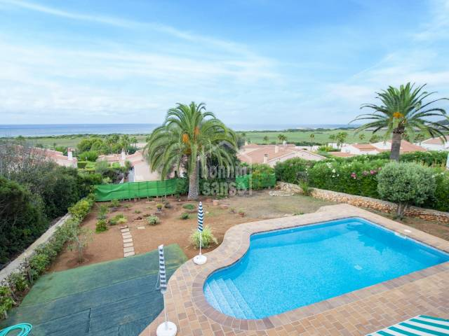 Charming semi-detached villa with pool in Torre Soli, Menorca
