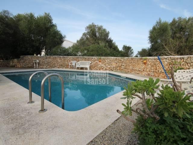 Villa overlooking countryside in Calan Porter
